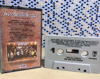 We Are The World - USA for Africa  - Various Artists - Cassette tape - 1985 Columbia Records
