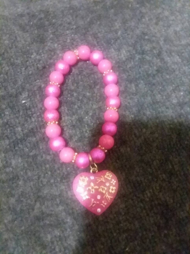 1fe006274ead A hot fuchsia pink inspired Louis Vuitton bracelet