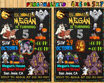 Halloween Birthday Invitation, Halloween Birthday Party, Costume Party, Halloween Invitation Card, Pumpkin Invitation, Ghost Invitation Card