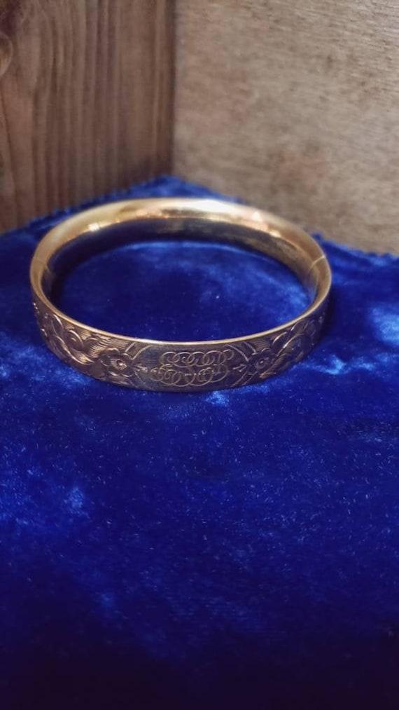Antique Victorian Gold Filled Bangle