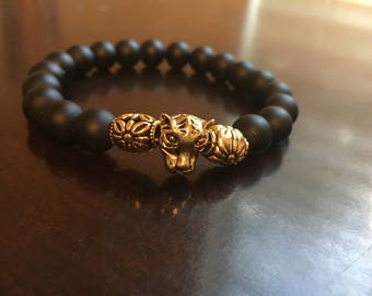 Men's 10mm Black Stretch Bracelet