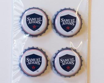 Samuel Adams Craft Beer Bottle Cap Magnets (set of 4)