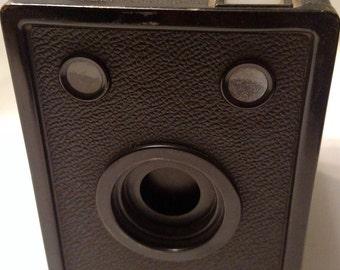 Vintage AGFA  D-6 Cadet Black Box Camera