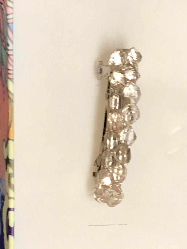 Herkimer diamond barrette