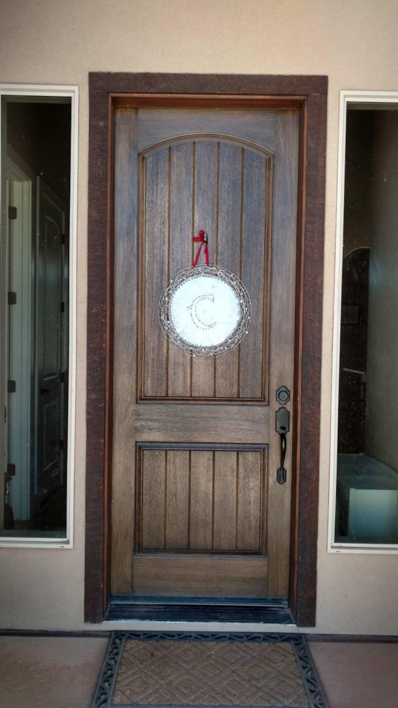Custom Lettered Door Hanger-Industrial Chic