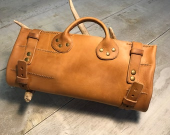 Leather Toiletry Bag Roll