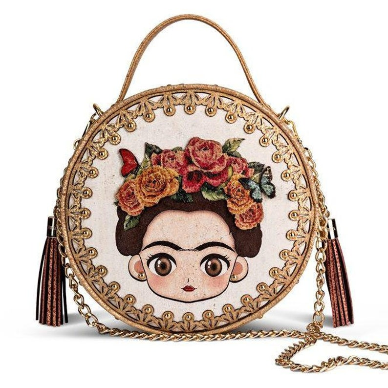 34b19743c6 Frida Cork Handbag and Crossbody Bag. Vegan alternative. Vegan