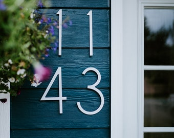 THIN MODERN White House Numbers for large Address Numbers