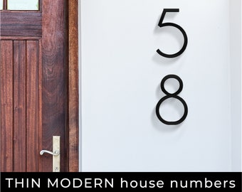 Large Modern Black House Numbers, 8 inch, 12 inch, Address Numbers, Door numbers