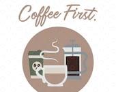 Coffee First Cut File, SV...