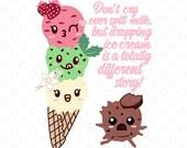 Ice Cream Emoji Paper Cut...