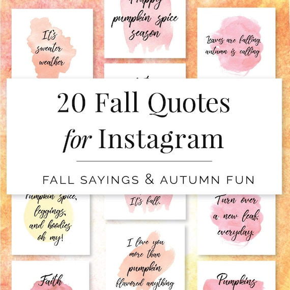 Fall Quotes For Instagram Instagram Story Quotes Hand Etsy