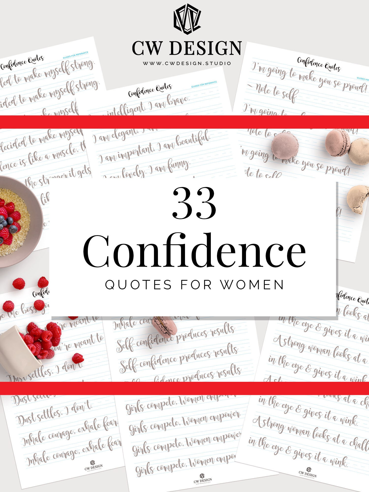 Hand Lettering Practice Sheets Confidence Quotes For Women Etsy