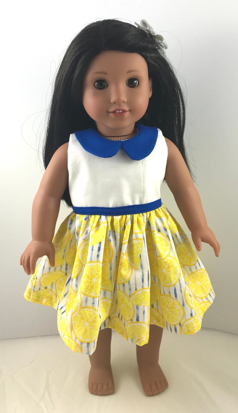 ffa443ad2bc4 Doll clothes 18 inch spring summer modern dress lemon
