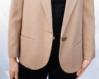 Tan Wool Blazer