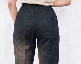 Wool Pleated Pants