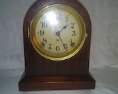 Working antique Seth Thomas mantle clock from mahogany. Refurbished. Refinished, wood, vintage, home decor, accessories.