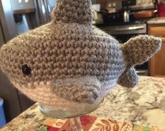 Crocheted Shark, Baby Shark, Shark, Amigurumi Shark, Ocean Creature, Ready to Ship, Tiny Shark, Plushie, Crocheted Shark Fish