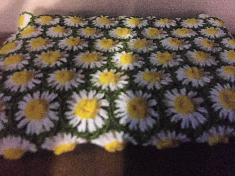 Handmade crochet daisy granny square afghan daisy granny etsy zoom izmirmasajfo