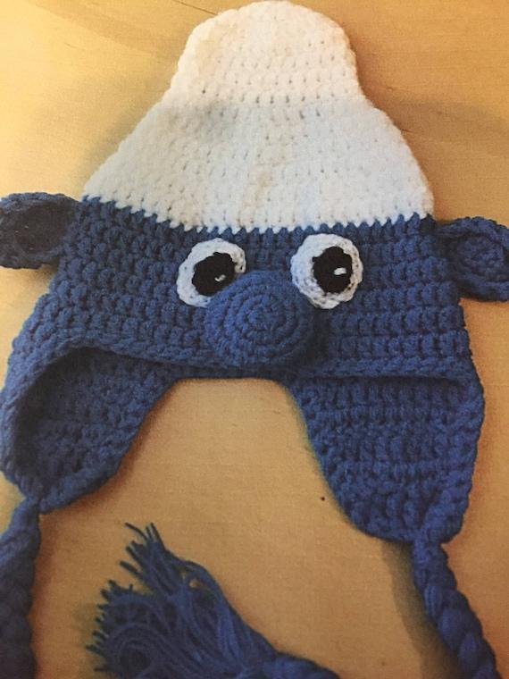 handgefertigte Baby Schlumpf Charakter Häkelmütze mit Zöpfen | Etsy