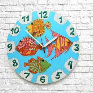 Wall clock kids animals Cute sheep decor Nursery clocks boy Baby boy gift unique