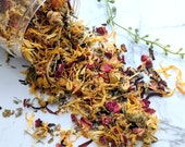Face steam, botanical facial, spa gift, aromatherapy, natural skincare, gift for her, relaxation, calendula, lavender, rose, organic facial