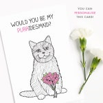 Personalised Funny Bridesmaid Card | Bride Gift | Maid of Honor | Best Friends | Be my bridesmaid