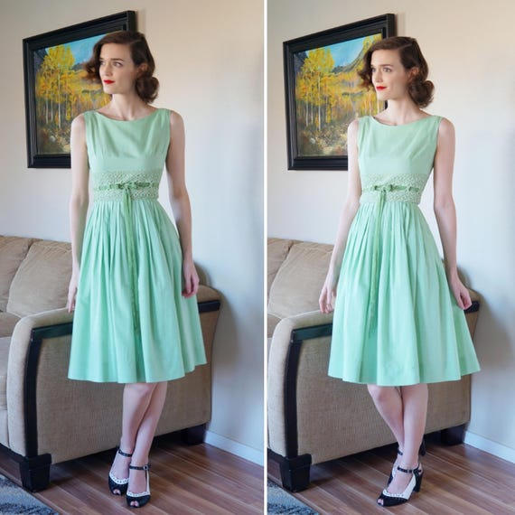 sale usa online 100% top quality sale retailer 1950s Mint Green Vicky Vaughn Dress 50s Mint Day Dress With | Etsy