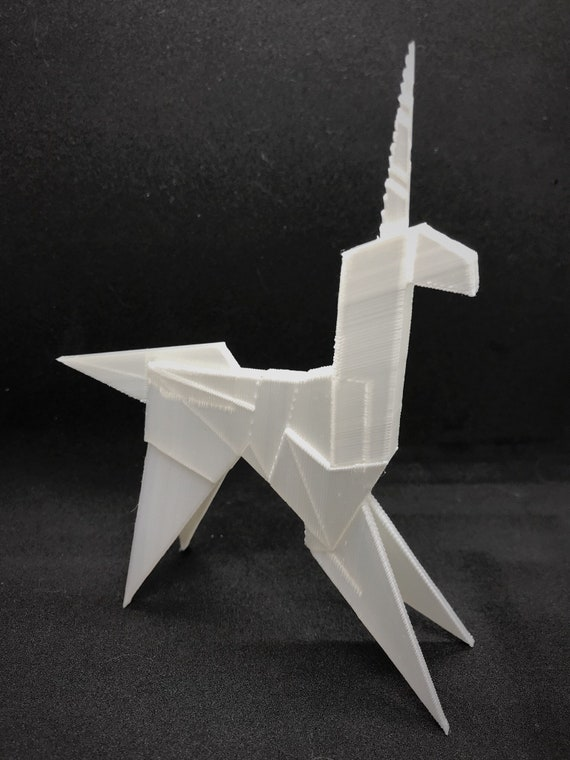 Origami Unicorn In Blade Runner Folded By Gaff 3d Printed Etsy