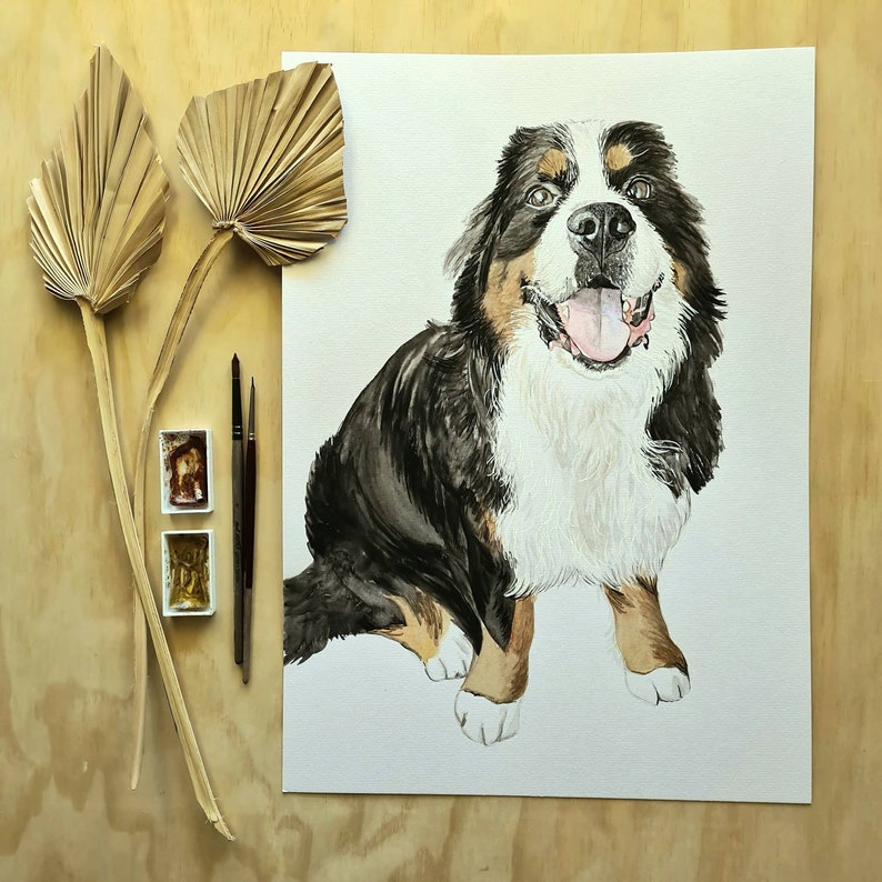 Custom Pet Portrait Dog Drawing Pet Drawing Pet Portrait Dog Painting Watercolour Pet Portrait Watercolour Portrait Pastel Portrait