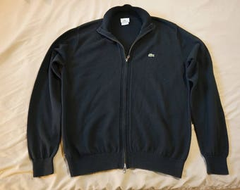Vintage Style Lacoste Zip Up Swtr
