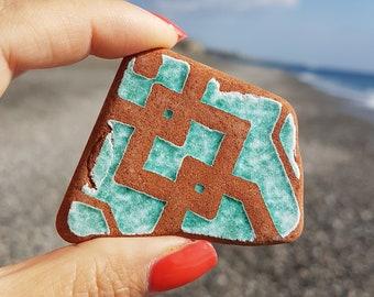 Genuine Italian Sea Pottery, Sea Beach Pottery, Beach Pottery, II - 007