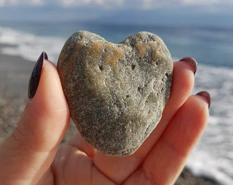 Ionian Sea Stone, Natural Beach Stone, Sea Stone, Heart Sea Stone, Heart Sea Rock, II-055