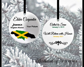 Jamaica Missionary Ornamentlds Missionary Ornamentschristmas Ornamentlds Personalized Giftsmissionary Giftcalled To Servelds Gifts