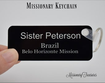 photograph regarding Future Missionary Tag Printable called Missionary reputation tag Etsy