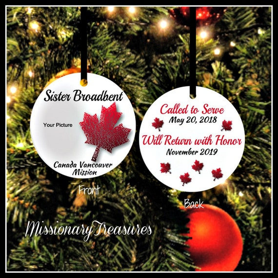 image 0 - Canada Missionary Ornament Custom Made LDS Ornament Etsy