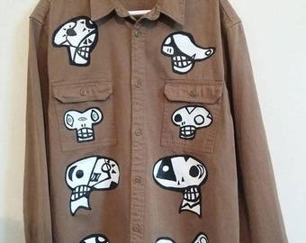 Handpainted Vintage Shirt Size M