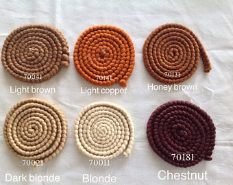 DOLL HAIR - wool CREPÈ- perfect natural curly hair ~ 15 Colours to choose from