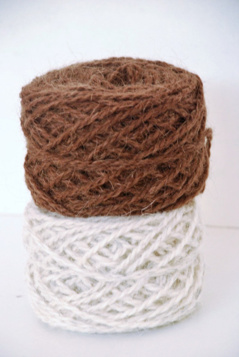 bag basket SHADE CARD ~ GOAT Hair ~ A curious weaving yarn made out of 5050 Goat Hair and Wool ~ Ideal for weaving carpets