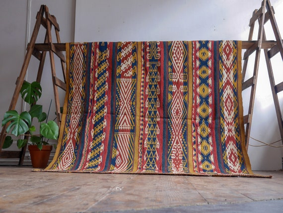 Antique Uzbek Flat Weave Kilim / Vintage home decor