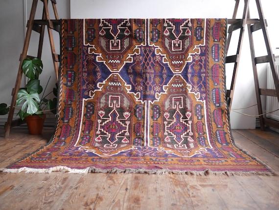 Beautiful Antique - Taimani War Rug - Afghan Rug