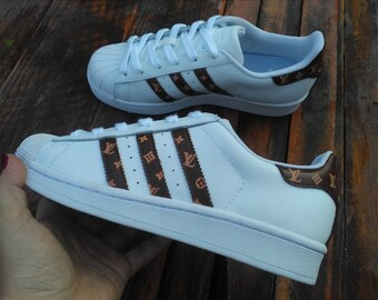 4e35f61c1544 Adidas Superstar X Louis Vuitton Inspired Custom Sneakers