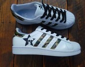 outlet store 9269d 05105 Scarpe Adidas Superstar esercito di Sneakers personalizzate