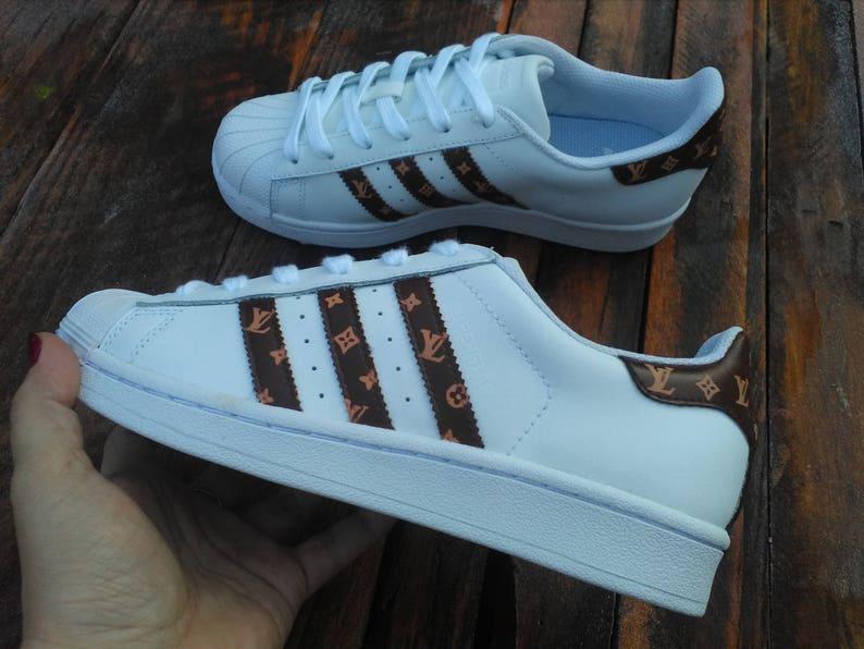 75376cc1ddb Adidas Superstar X Louis Vuitton Inspired Custom Sneakers