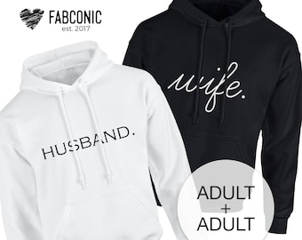 info for a0c32 275a8 Husband and Wife, Husband Wife Matching, Honeymoon Hoodies, His and Hers  Hoodies, Matching Hoodies for couple, Honeymoon couple hoodies