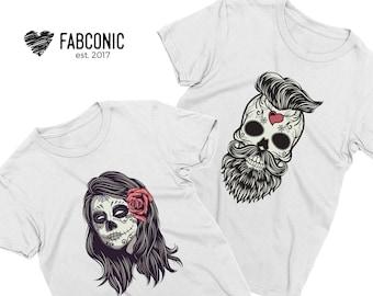 Skull Halloween Shirt, Halloween Shirt, Skull Shirt, Halloween Skull Shirt, Couples Halloween Shirts, Halloween couples shirts