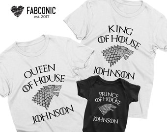 b48fb206d9 Family Matching Shirts, Personalized Matching Shirts, Thrones Matching  Shirts, Mom Dad Son Daughter Shirts, Mothers day, Fathers day gift