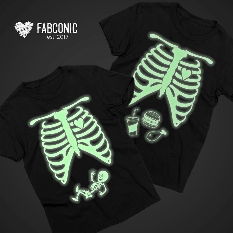 b85c3c1775fe1 GLOW in the dark Halloween Maternity Shirt Glow in the dark | Etsy