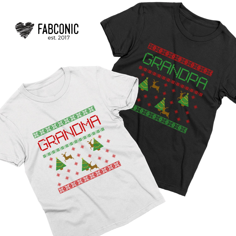 Cadeau de Noël pour de grand-maman, chemises de grands-parents de Noël, cadeau de pour Noël pour grand-papa, cadeau de grands-parents, grands-parents Noël chemises 45a173