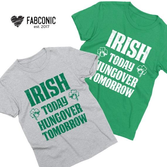 4ddcfc493 St Patricks Day Couples Shirts Irish Today Hungover Tomorrow   Etsy